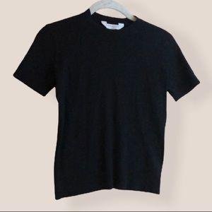 Everlane black shirt-sleeved wool sweater size XS
